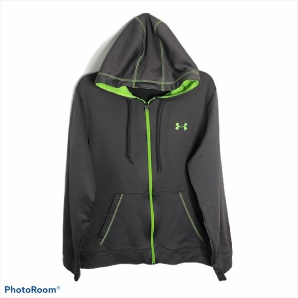 Under Armour Gray Green Full Zip Sweatshirt Small